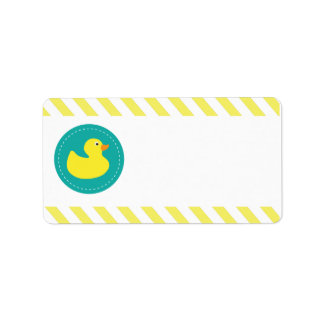 Rubber Ducky Blank Labels