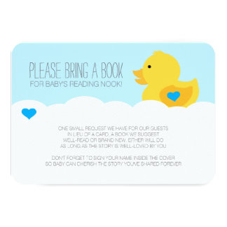 """Rubber Ducky Boy Baby Shower Baby Shower Enclosure 3.5"""" X 5"""" Invitation Card"""