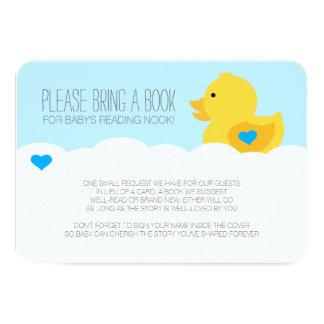 "Rubber Ducky Bubble Bath Boy Baby Shower Enclosure 3.5"" X 5"" Invitation Card"