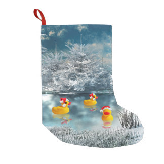Rubber ducky Christmas Small Christmas Stocking