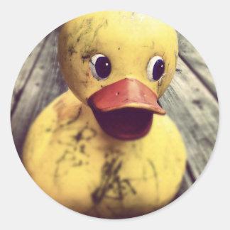 rubber ducky classic round sticker