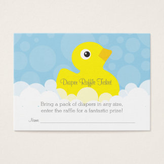 Rubber Ducky Diaper Raffle Ticket - Blue