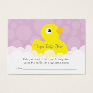 Rubber Ducky Diaper Raffle Ticket - Lilac