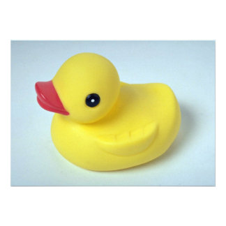 Rubber ducky doll for kids announcements