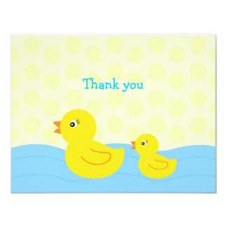"""Rubber Ducky Duck Flat Thank You Note Cards 4.25"""" X 5.5"""" Invitation Card"""