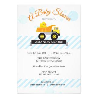 Rubber Ducky Dump Truck Baby Shower Invitation