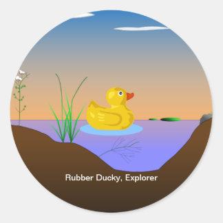 Rubber Ducky, Explorer Classic Round Sticker
