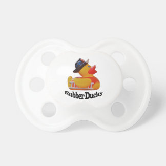Rubber Ducky Fire Fighter Pacifier