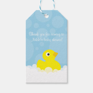 Rubber Ducky Gift Tag - Blue