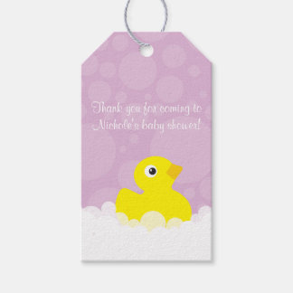 Rubber Ducky Gift Tag - Lilac