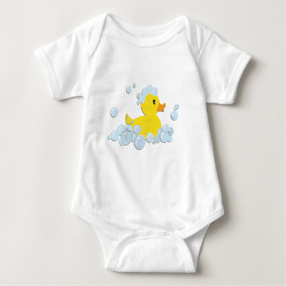 Rubber Ducky in Bubbles Baby Bodysuit