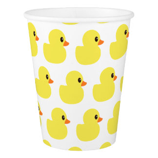 """Rubber Ducky"" Paper Cups"
