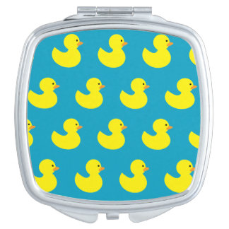 Rubber Ducky Pattern Compact Mirror