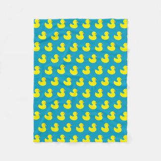 Rubber Ducky Pattern Fleece Blanket