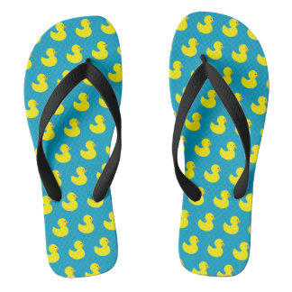 Rubber Ducky Pattern Flip Flops