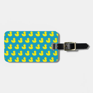 Rubber Ducky Pattern Luggage Tag