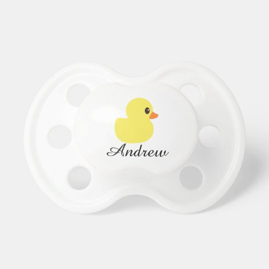"""Rubber Ducky"" Personalized Pacifier"