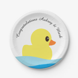 """Rubber Ducky"" Personalized Paper Plates"