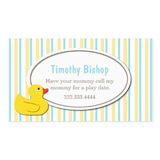Rubber ducky business cards 138 business card templates for Rubber business cards