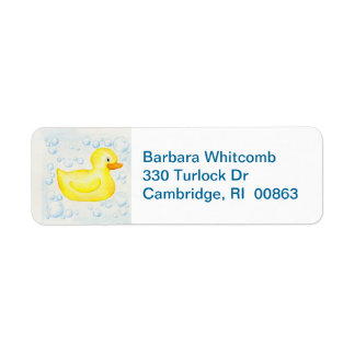 Rubber Ducky return address labels