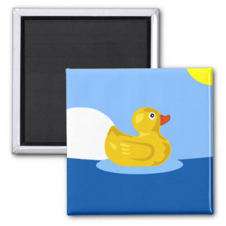 Rubber Ducky Square Magnet