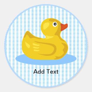 Rubber Ducky Sticker Template