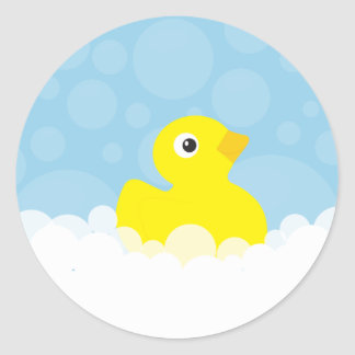 Rubber Ducky Stickers - Blue