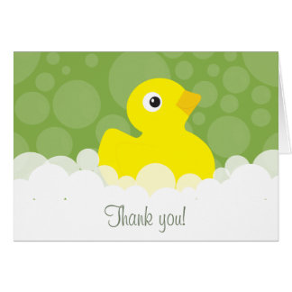 Rubber Ducky Thank You Note - Green Card