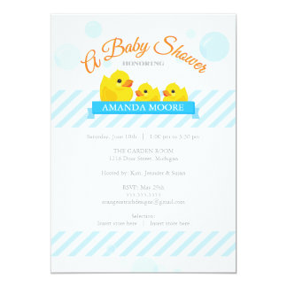 Rubber Ducky    Twins Baby Shower Invitation