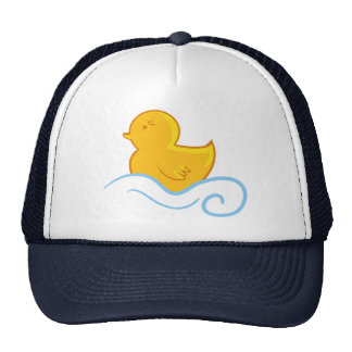 rubber ducky with waves hat