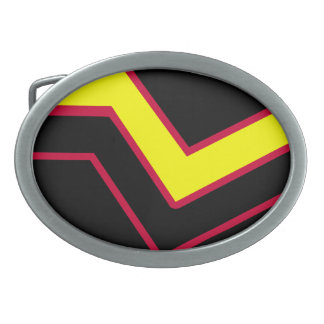 RUBBER LATEX PRIDE OVAL BELT BUCKLE
