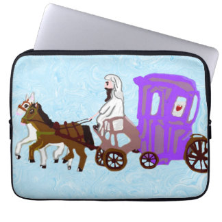 Rubber Stamp, Ancient Egyptian Chariot, In Color Computer Sleeves