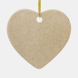 rubber stamp ceramic heart ornament