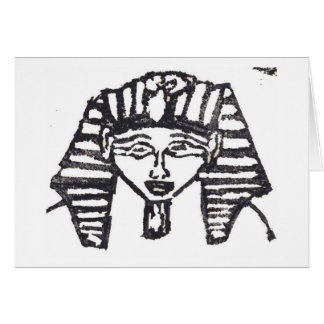 Rubber Stamp, Egyptian Mask Card