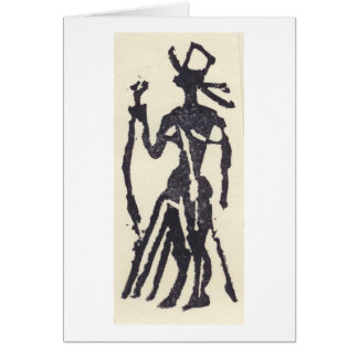 Rubber Stamp, Egyptian Statue Card