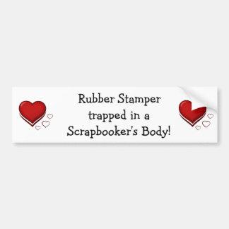 Rubber Stamper Scrapbooker Bumper Sticker