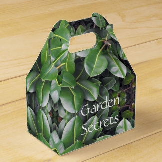 Rubber Tree Leaf Pattern Wedding Favor Box