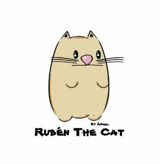 Rubén The Cat Pin Photo Sculpture Button