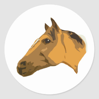 Rubicon the Paint Horse Classic Round Sticker
