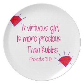 rubies plate