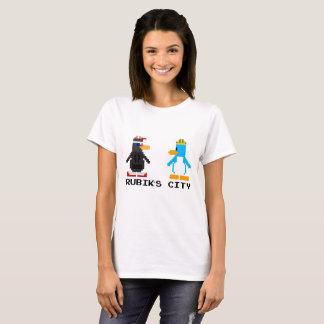 Rubik's City And MegaPlex 8-Bit Women T-Shirt