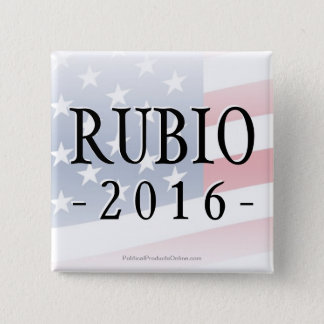 Rubio 2016, Marco for President 2 Inch Square Button
