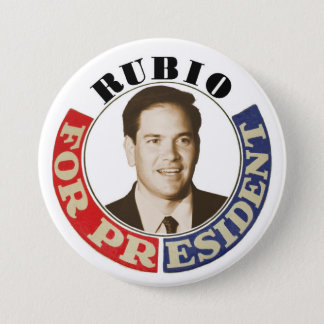 Rubio for President 3 Inch Round Button