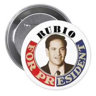 Rubio for President 3 Inch Round Button