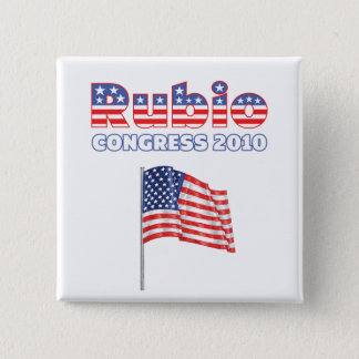 Rubio Patriotic American Flag 2010 Elections 2 Inch Square Button