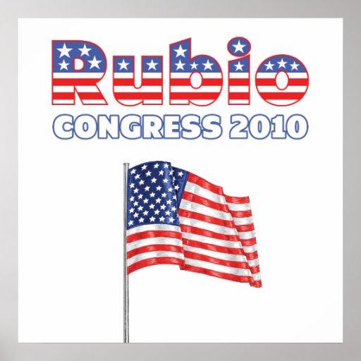 Rubio Patriotic American Flag 2010 Elections Print