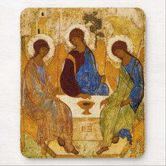 Rublev Trinity at the Table Mouse Pad
