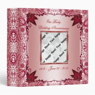 "Ruby 40th Wedding Anniversary 1.5"" Binder"