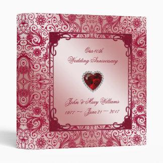 "Ruby 40th Wedding Anniversary 1"" Binder"