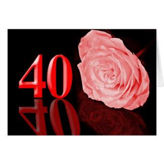 Ruby (40th) Wedding anniversary card
